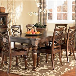 Ashley Furniture Porter House Rectangular Extension Table