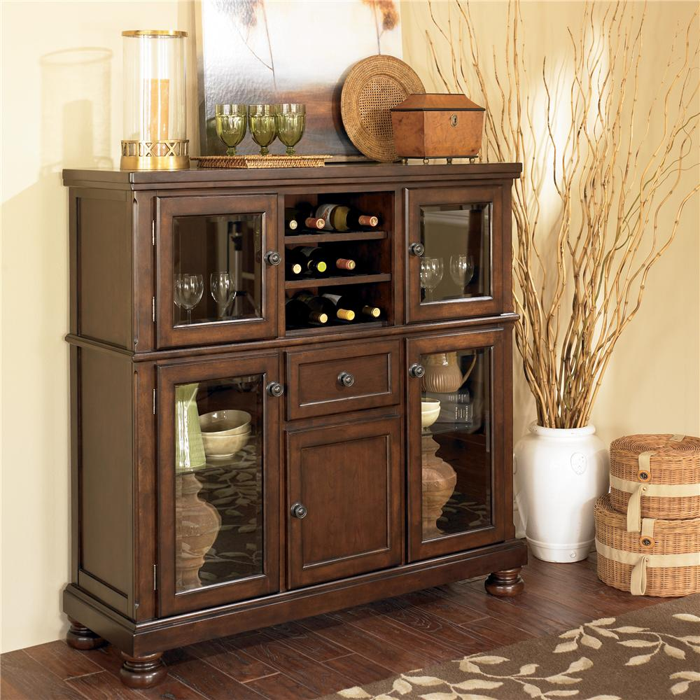 Porter Server with Storage Cabinet by Ashley Furniture at Lapeer Furniture & Mattress Center