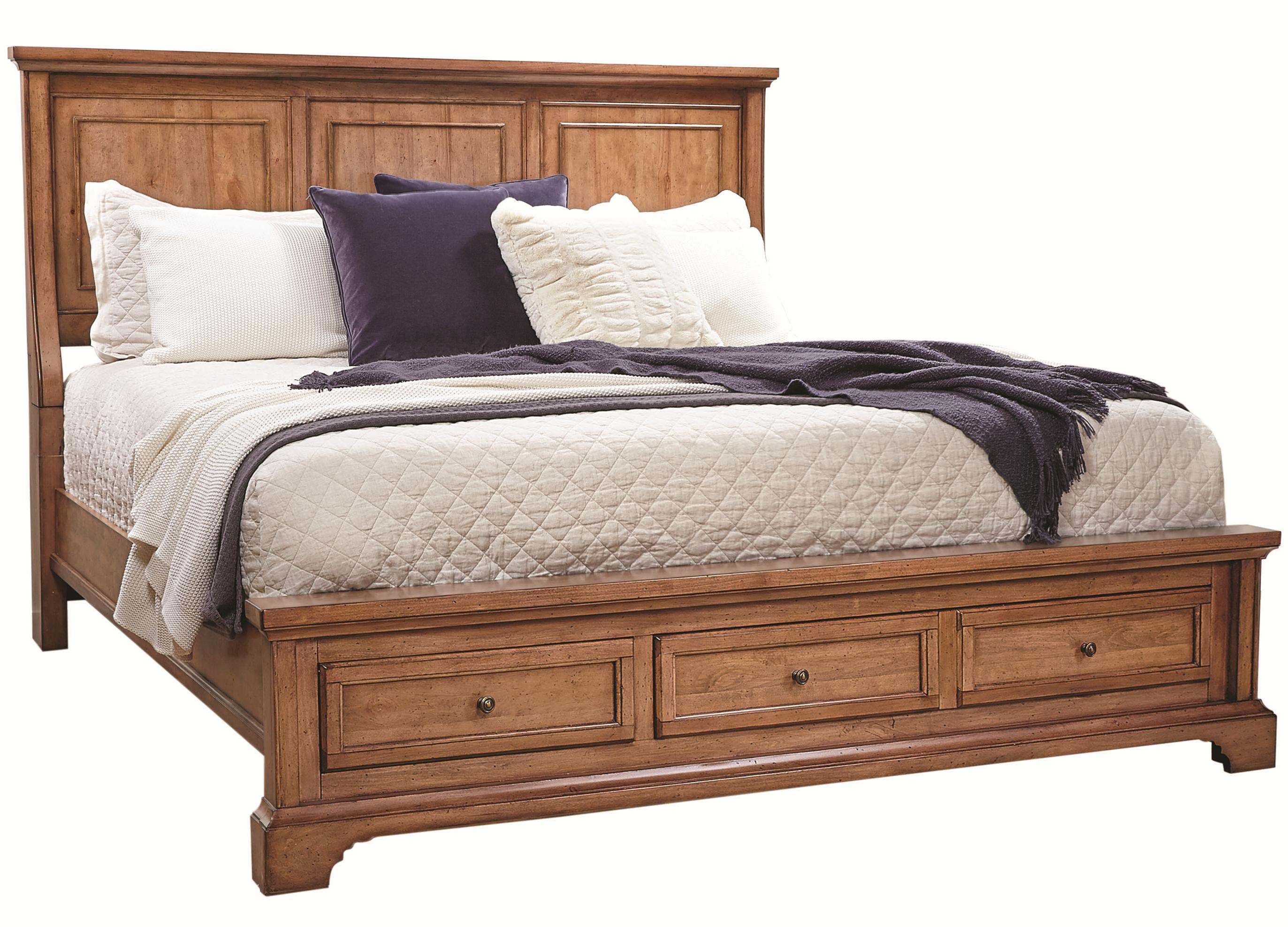 Alder Creek King Panel Storage Bed by Aspenhome at Fisher Home Furnishings