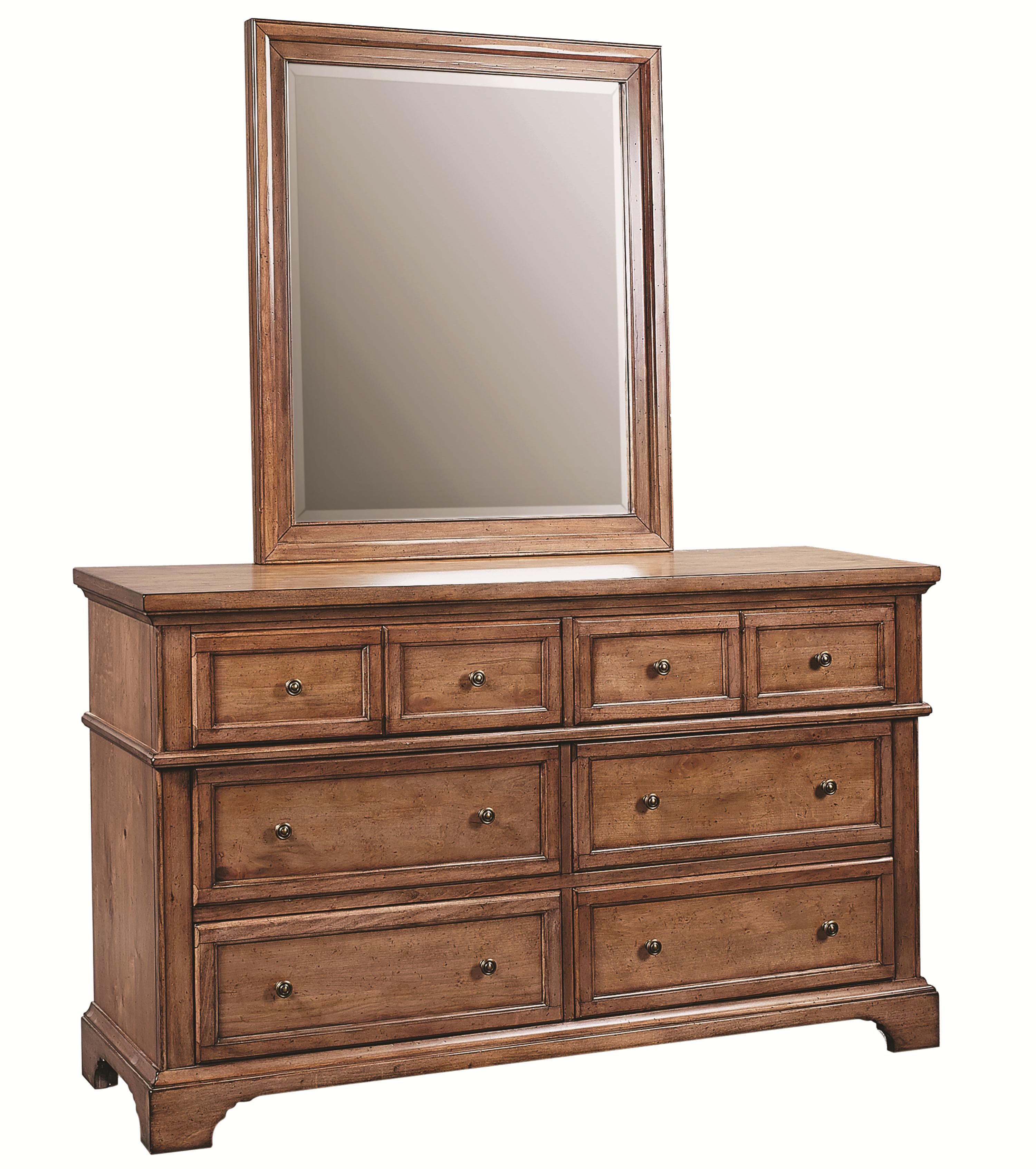 Alder Creek Dresser and Mirror Set by Aspenhome at Pilgrim Furniture City