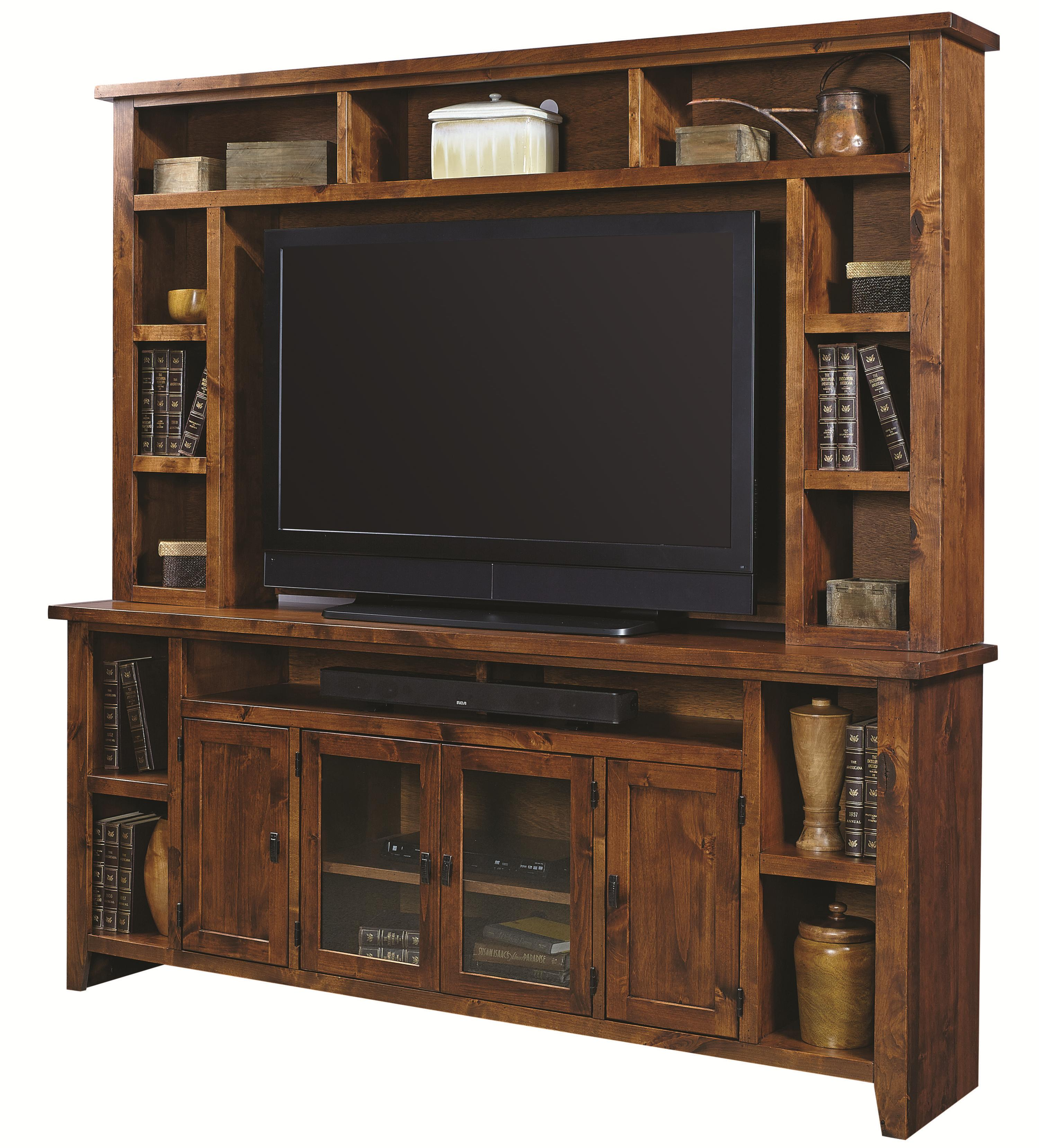 """Alder Grove 84"""" Console and Hutch by Aspenhome at Walker's Furniture"""
