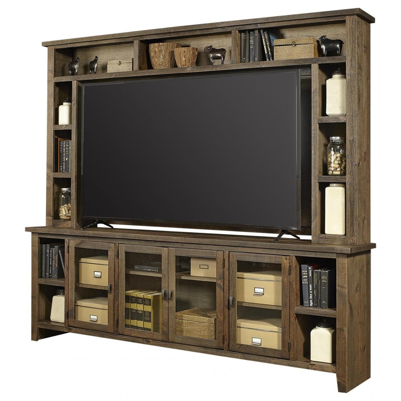 Alder Grove TV Stand with Hutch by Aspenhome at Fashion Furniture