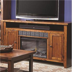 2 Door Entertainment Console with Fireplace