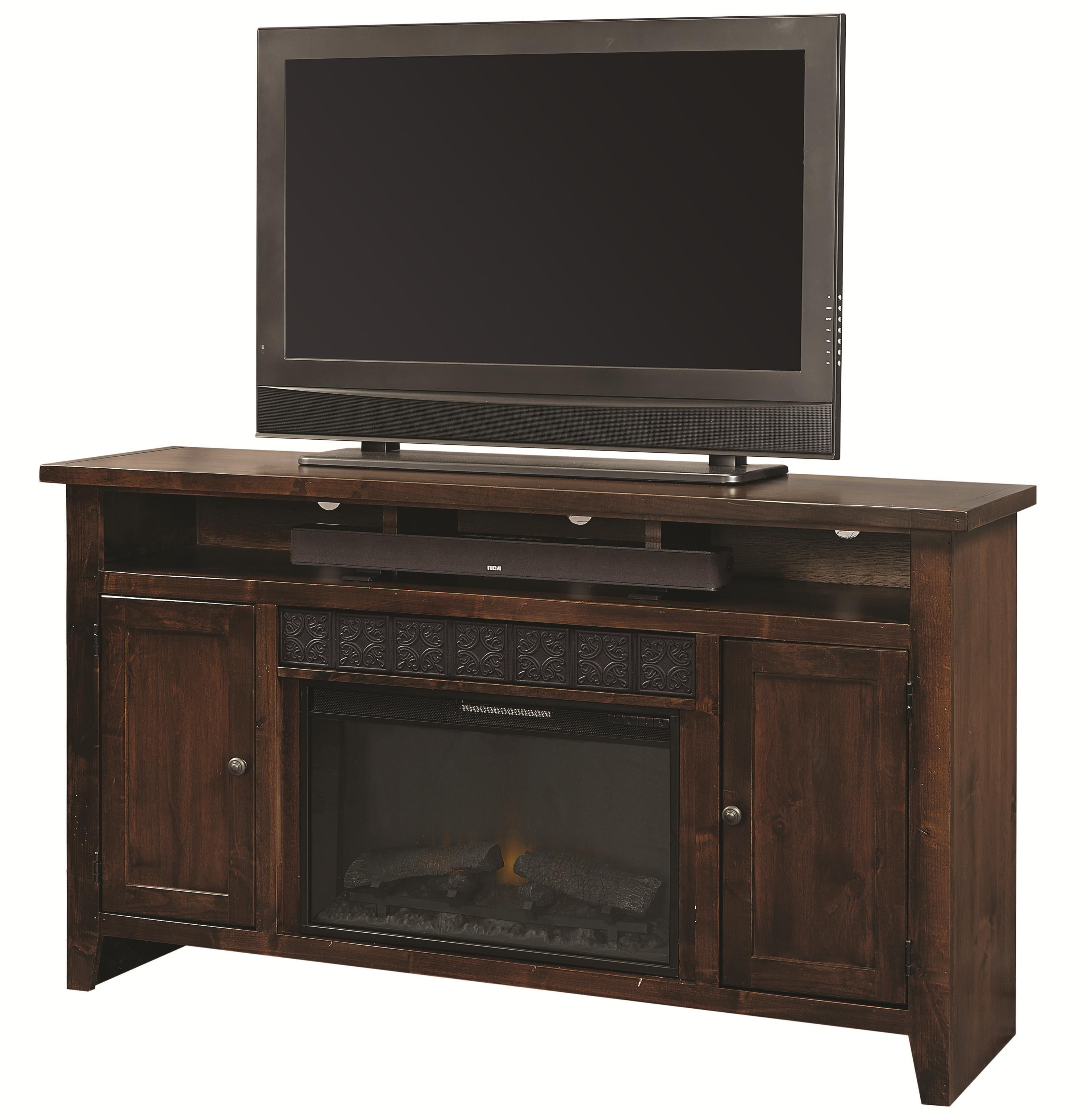 """Alder Grove 63"""" Fireplace Console by Aspenhome at Wayside Furniture"""