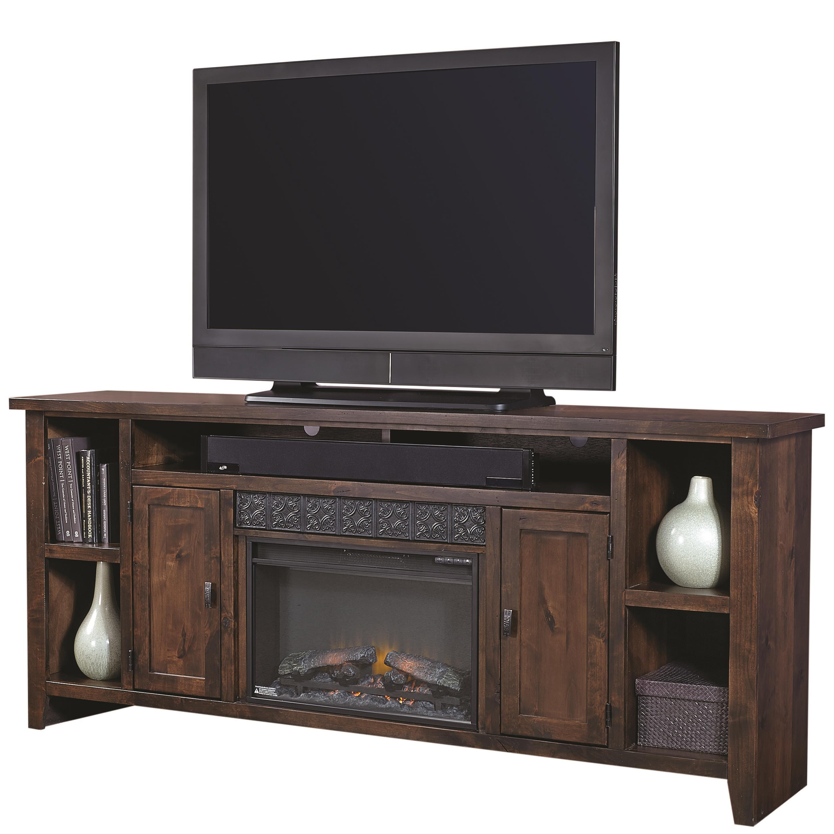 "Alder Grove 84"" Fireplace Console by Aspenhome at Walker's Furniture"