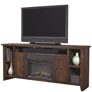 "84"" Fireplace Console with Soundbar Area"
