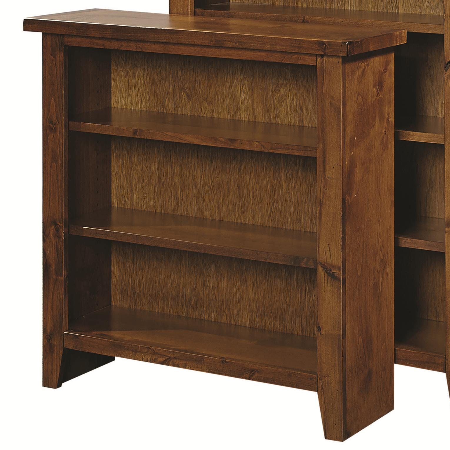 """Alder Grove 36"""" Height Bookcase with 2 Shelves by Aspenhome at Baer's Furniture"""