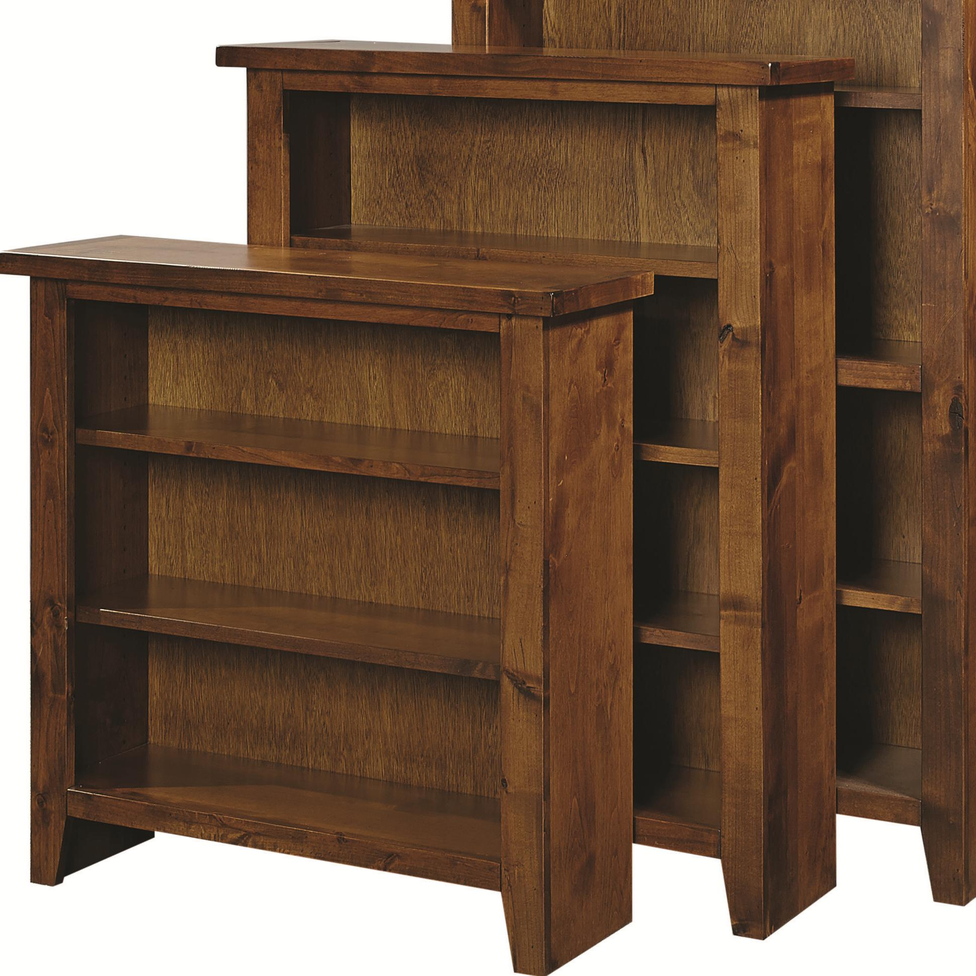 "Alder Grove Bookcase 48"" Height with 3 Shelves by Hills of Aspen at Ruby Gordon Home"