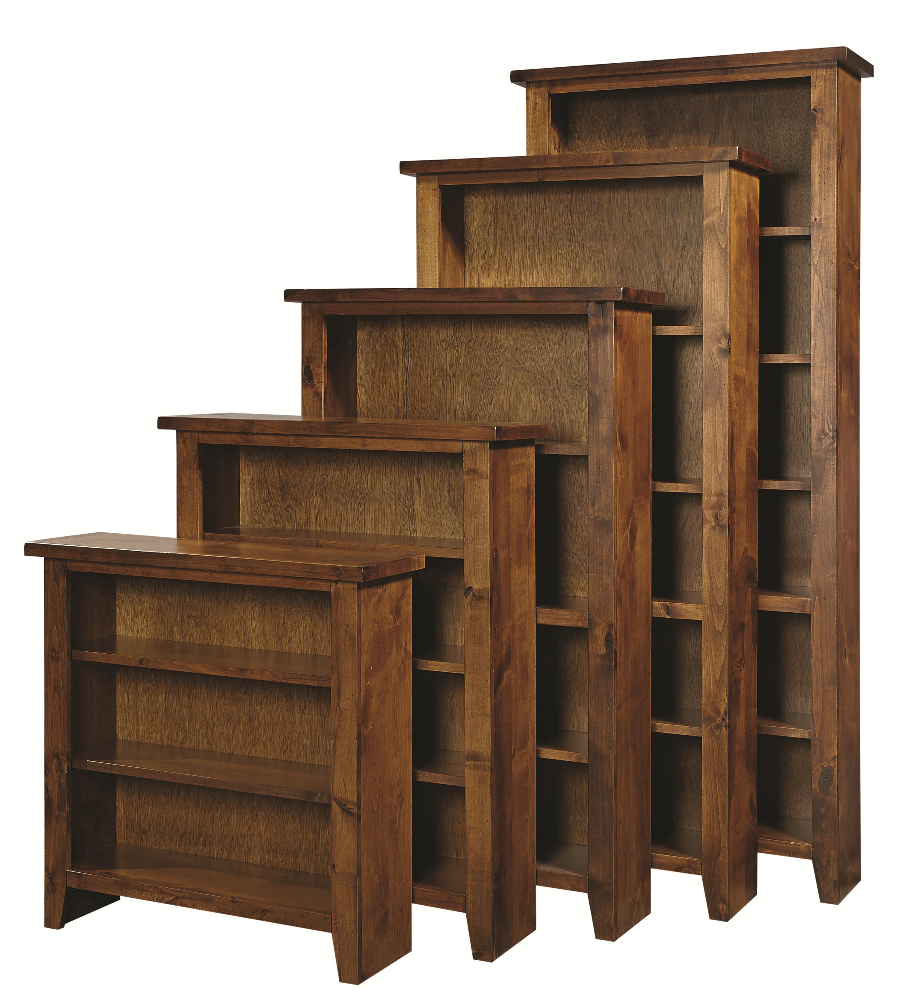 """Alder Grove Bookcase 84"""" H with 5 Shelves by Aspenhome at Mueller Furniture"""