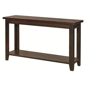 Sofa Table with Tapered Legs and Shelf