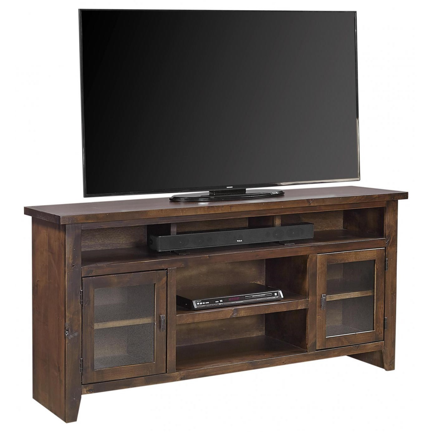 """Alder Grove 65"""" Console with Doors by Aspenhome at Mueller Furniture"""