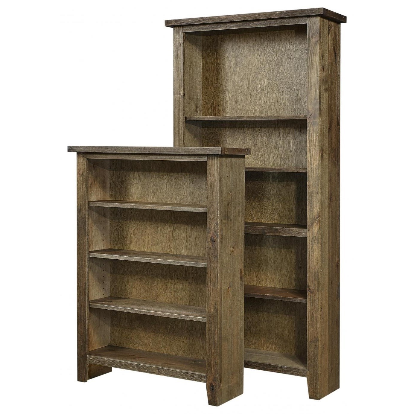 """Alder Grove Bookcase 74"""" H with 4 Shelves by Aspenhome at Walker's Furniture"""