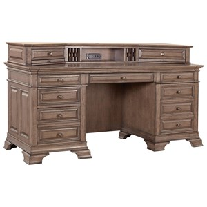 "72"" Credenza Desk with Sliding Top and Outlets"