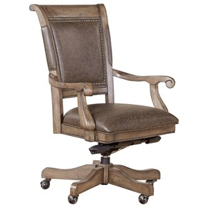 Office Arm Chair with Upholstered Seat