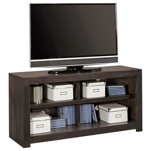 "Contemporary 49"" TV Console with 4 Open Shelves"