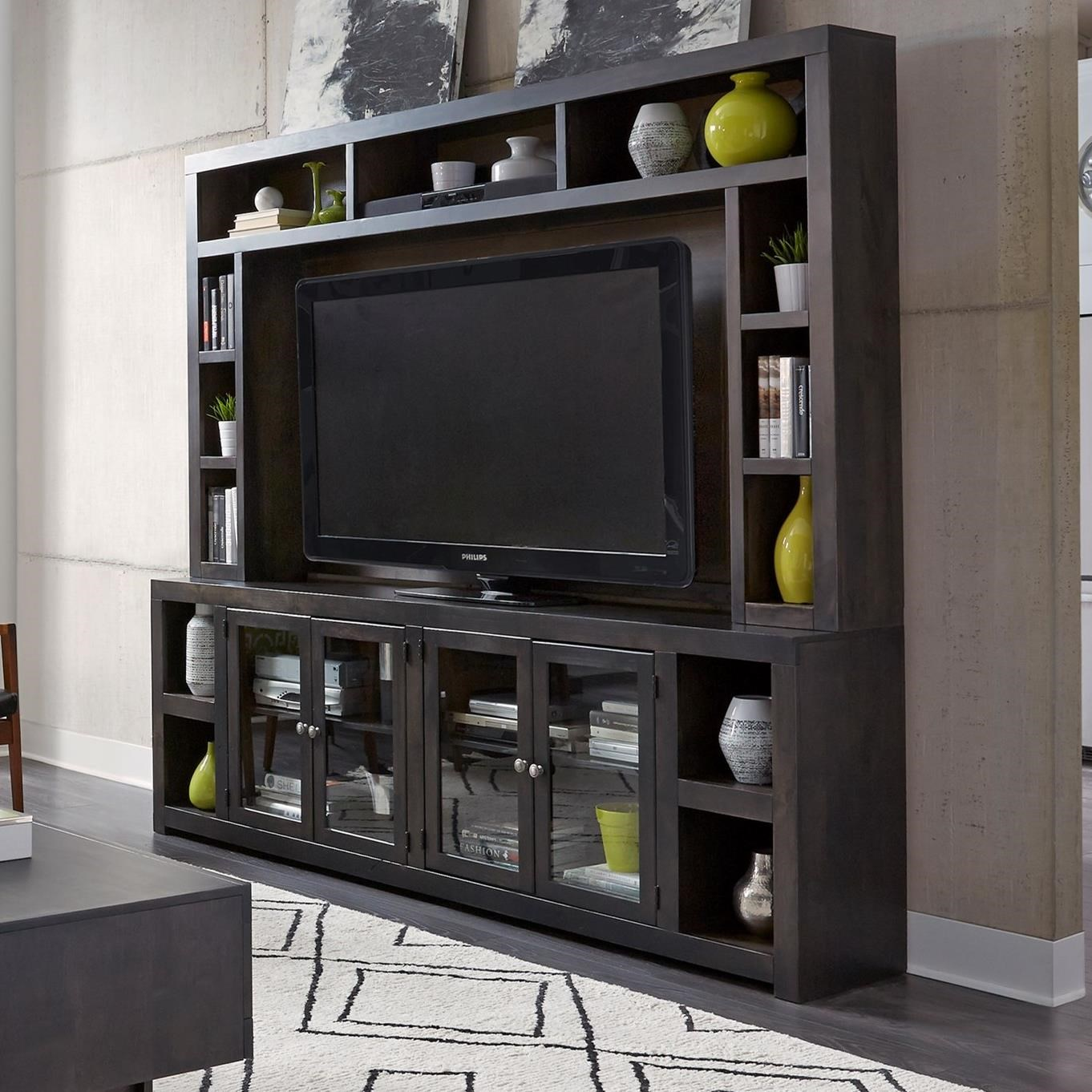 """Avery Loft 97"""" Console and Hutch by Aspenhome at Walker's Furniture"""