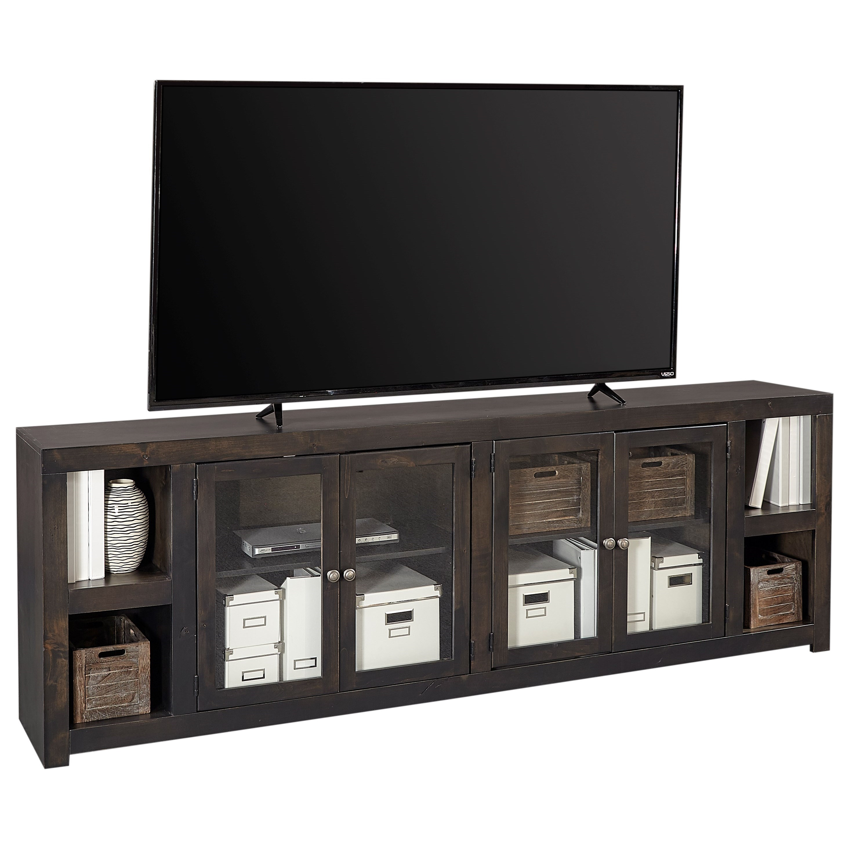 "Avery Loft 97"" TV Console by Aspenhome at Baer's Furniture"