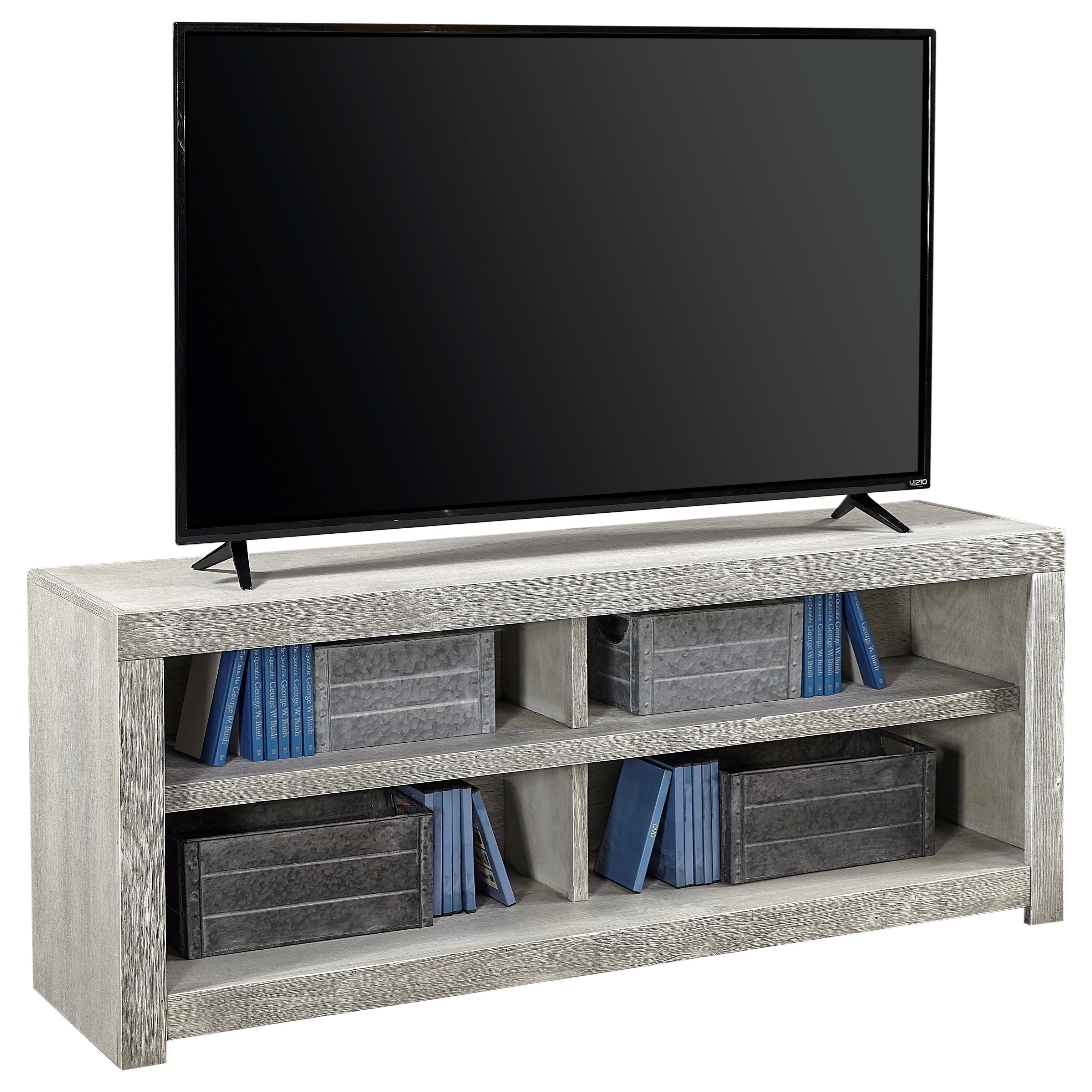 "Avery Loft 60"" Open Console by Aspenhome at Fisher Home Furnishings"