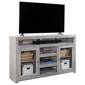 "Contemporary 65"" Highboy Console with Wire Access Holes"
