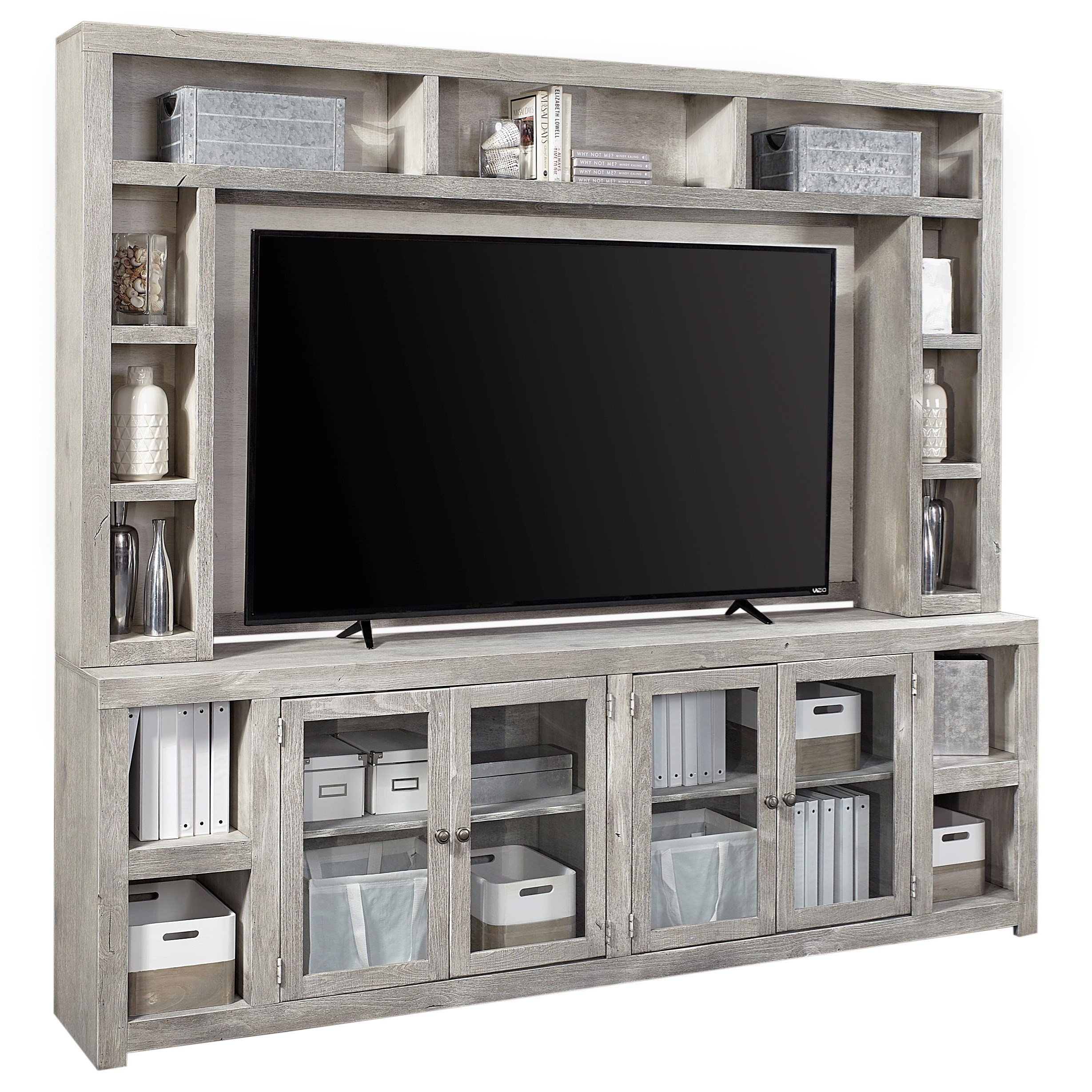 """Avery Loft 97"""" Console and Hutch by Aspenhome at Stoney Creek Furniture"""