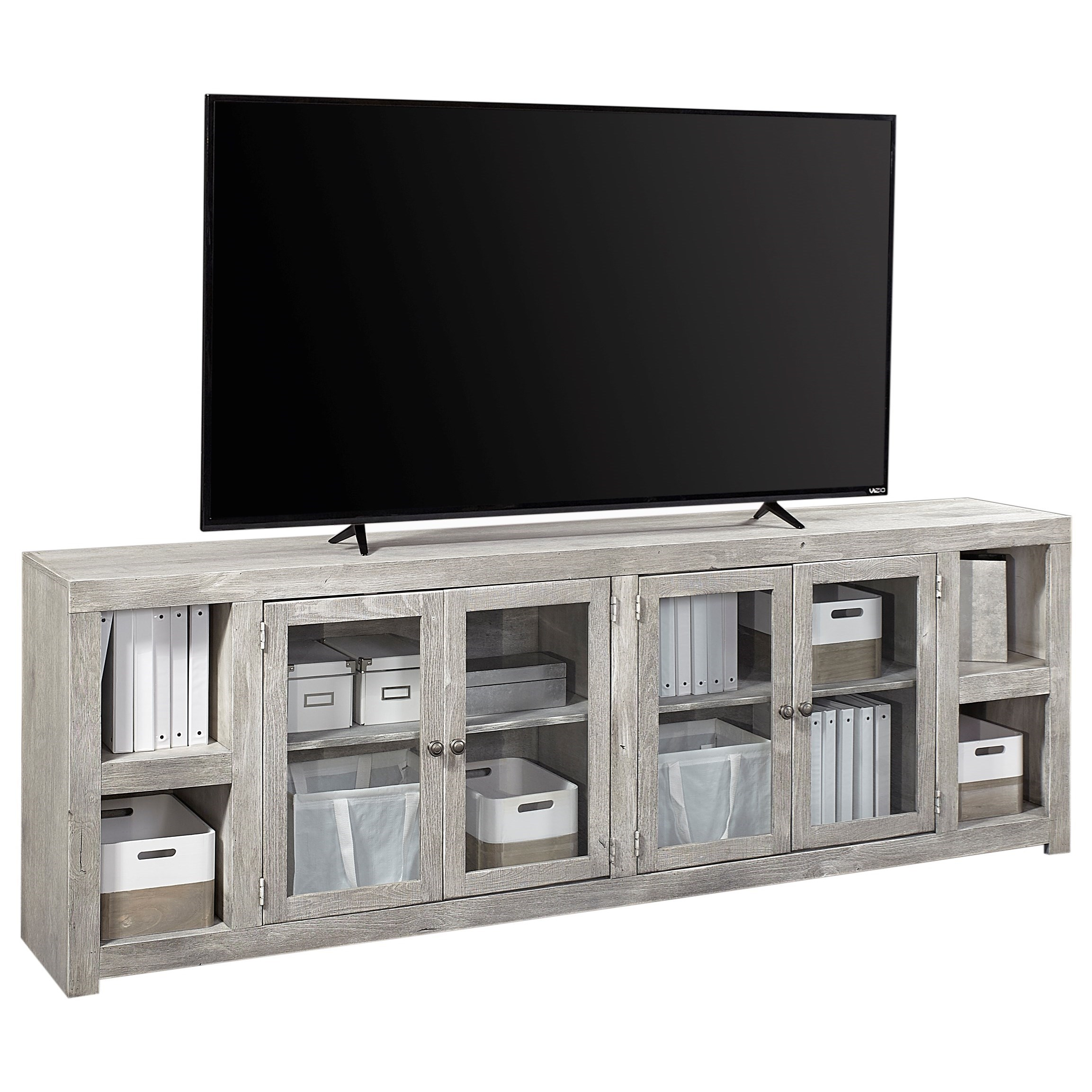 """Avery Loft 97"""" TV Console by Aspenhome at Baer's Furniture"""