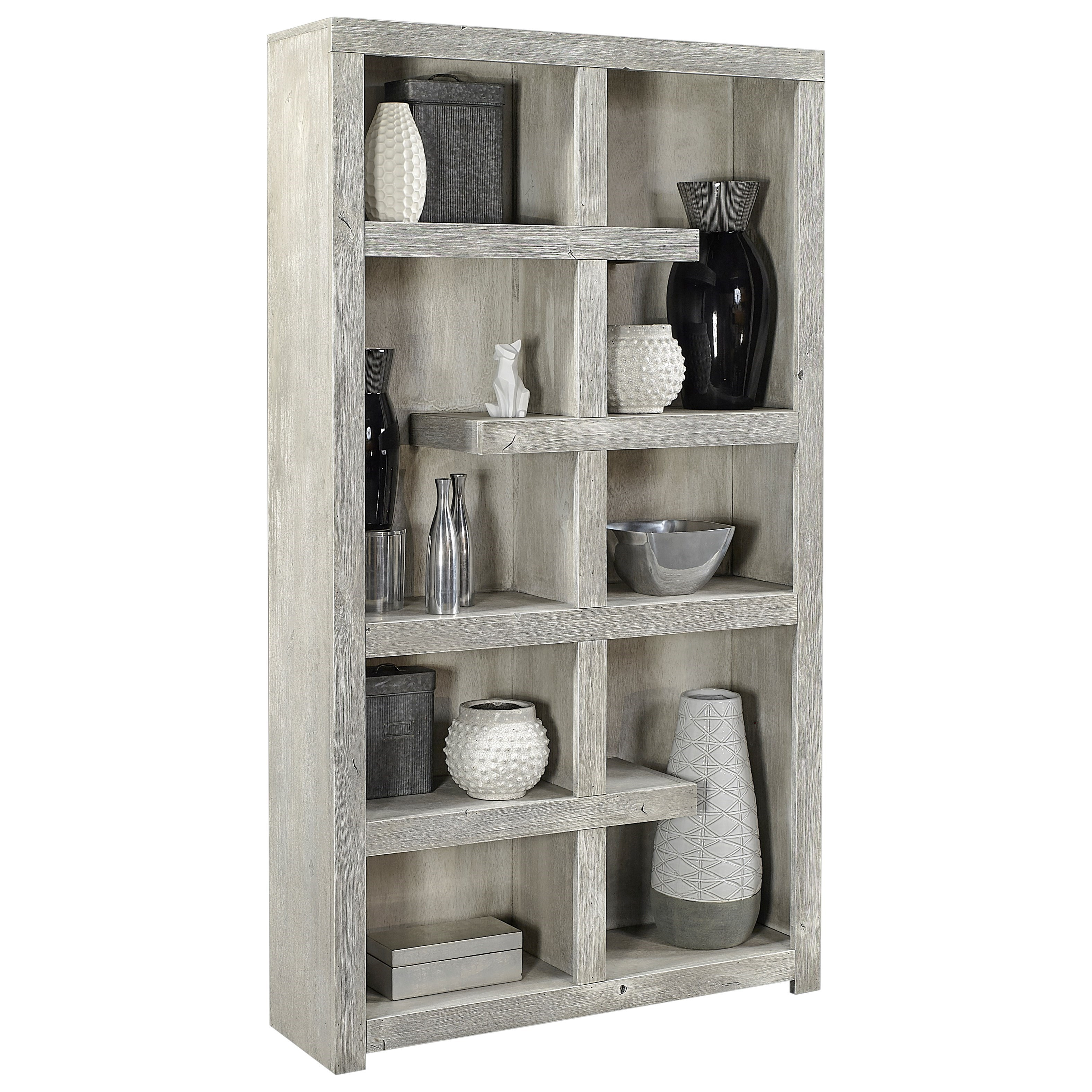 """Avery Loft 76"""" Open Book Case by Aspenhome at Fisher Home Furnishings"""