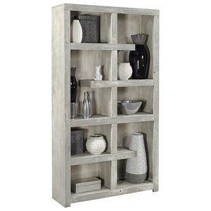 "Contemporary 76"" Open Book Case with 10 Shelves"