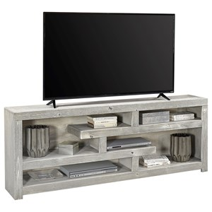"Contemporary 72"" Open Console with 6 shelves"