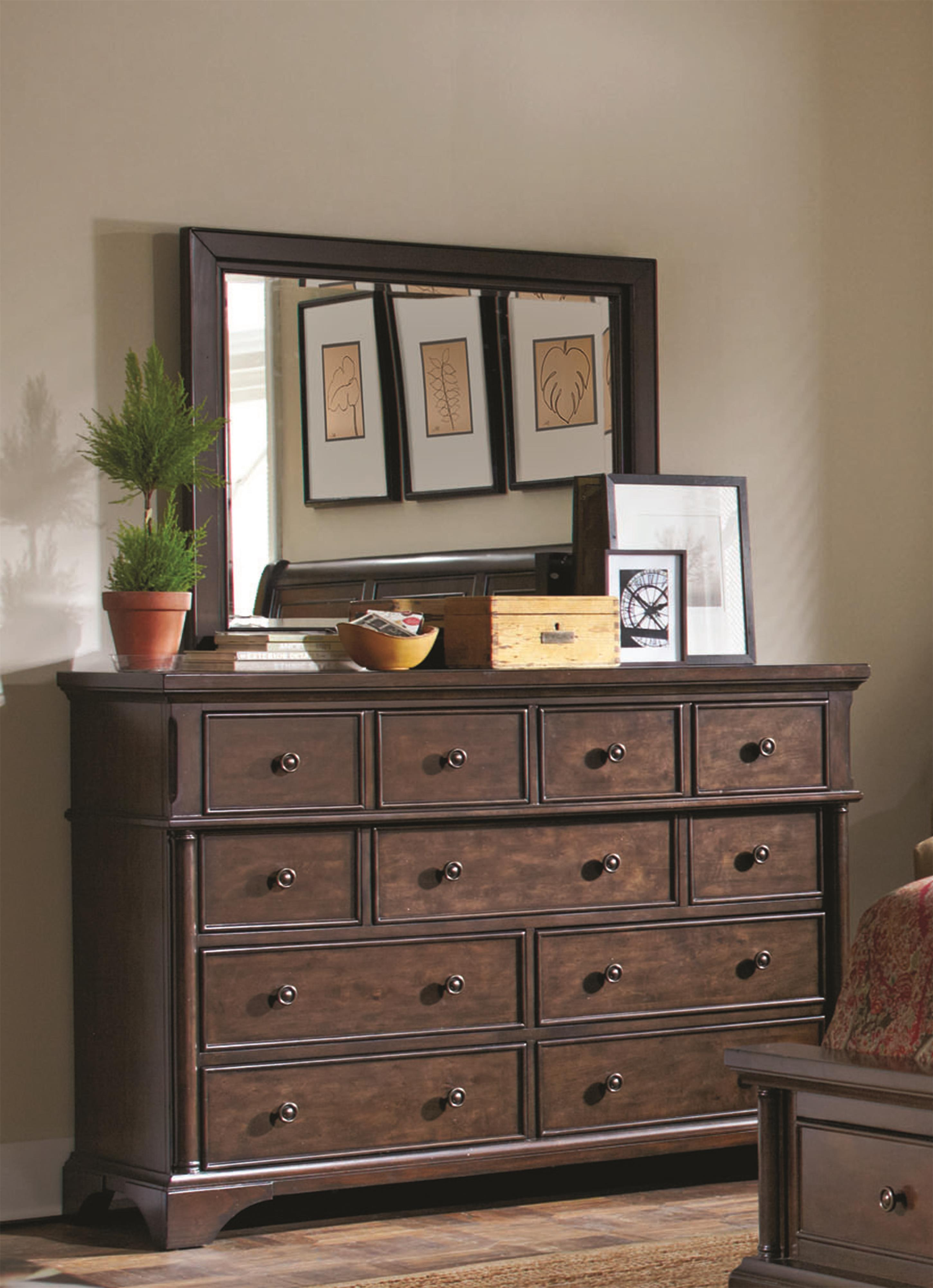 Bancroft Chesser and Mirror by Aspenhome at Stoney Creek Furniture