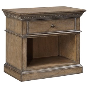 1 Drawer Nightstand with Felt-Lined Drawer