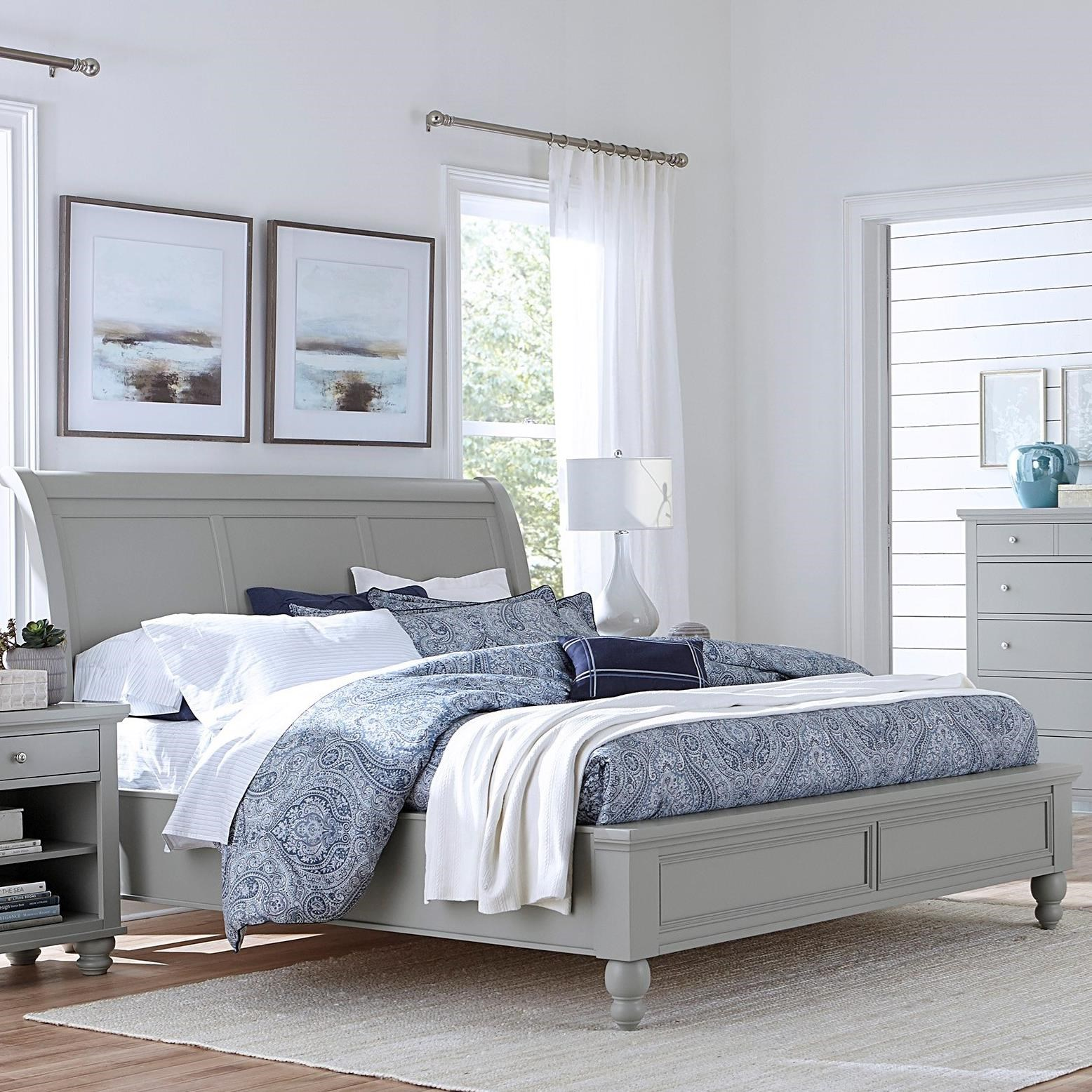 Cambridge King Sleigh Bed by Aspenhome at Baer's Furniture