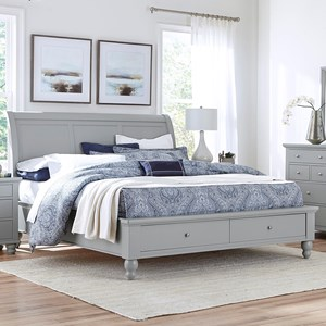 Queen Sleigh Bed With Storage Drawers and USB Ports