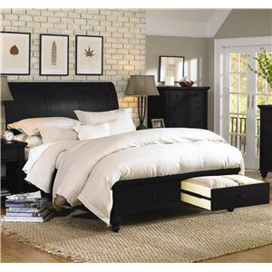 Aspenhome Cambridge California King Storage Sleigh Bed