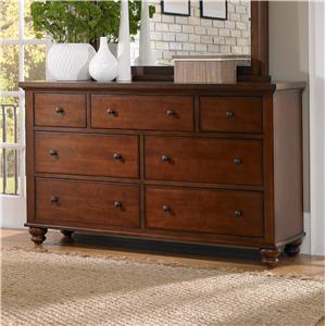 7-Drawer Double Dresser