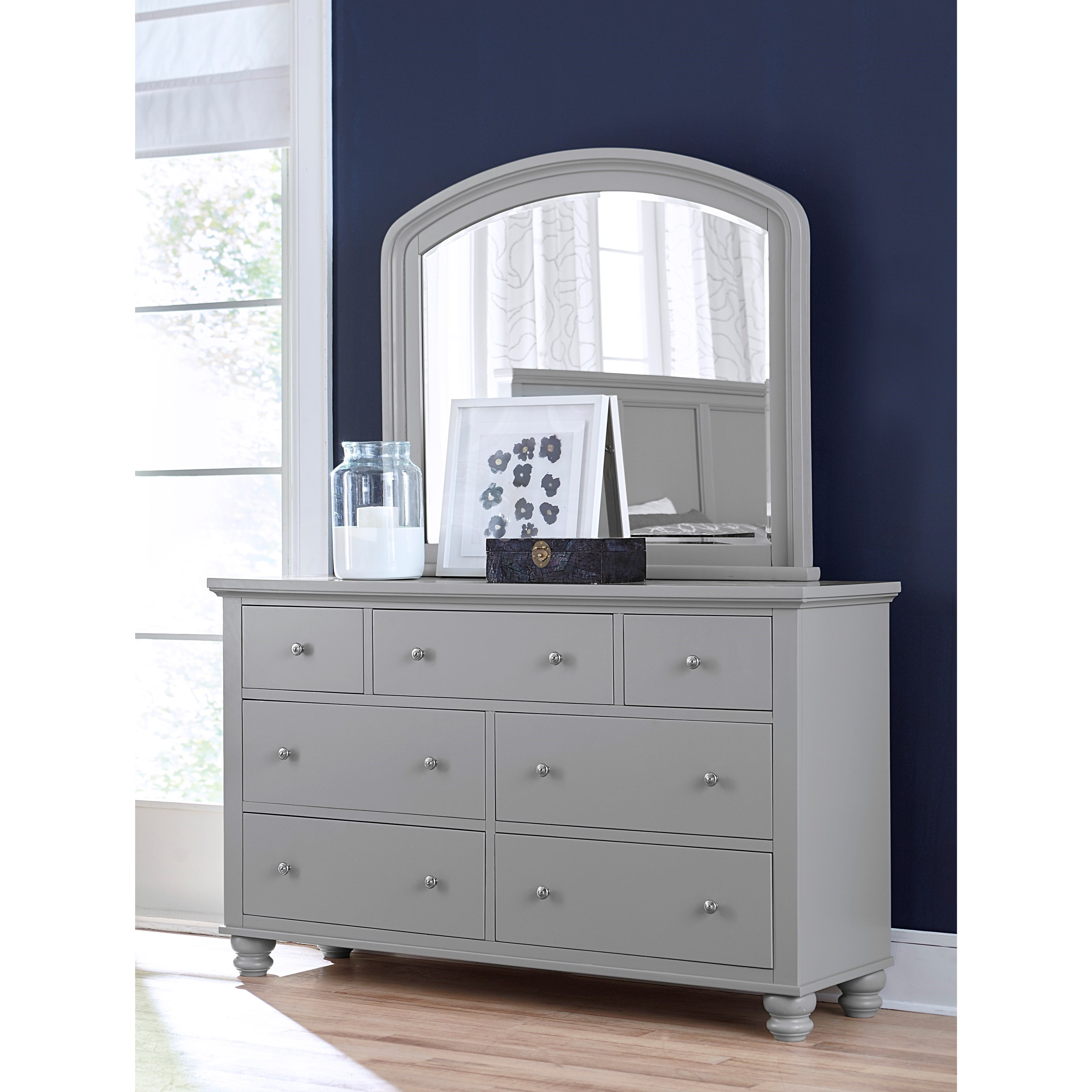Cambridge Double Dresser and Mirror Combo by Hills of Aspen at Ruby Gordon Home