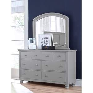 Double Dresser and Mirror Combo