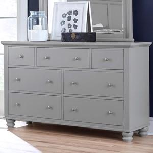 7-Drawer Double Dresser