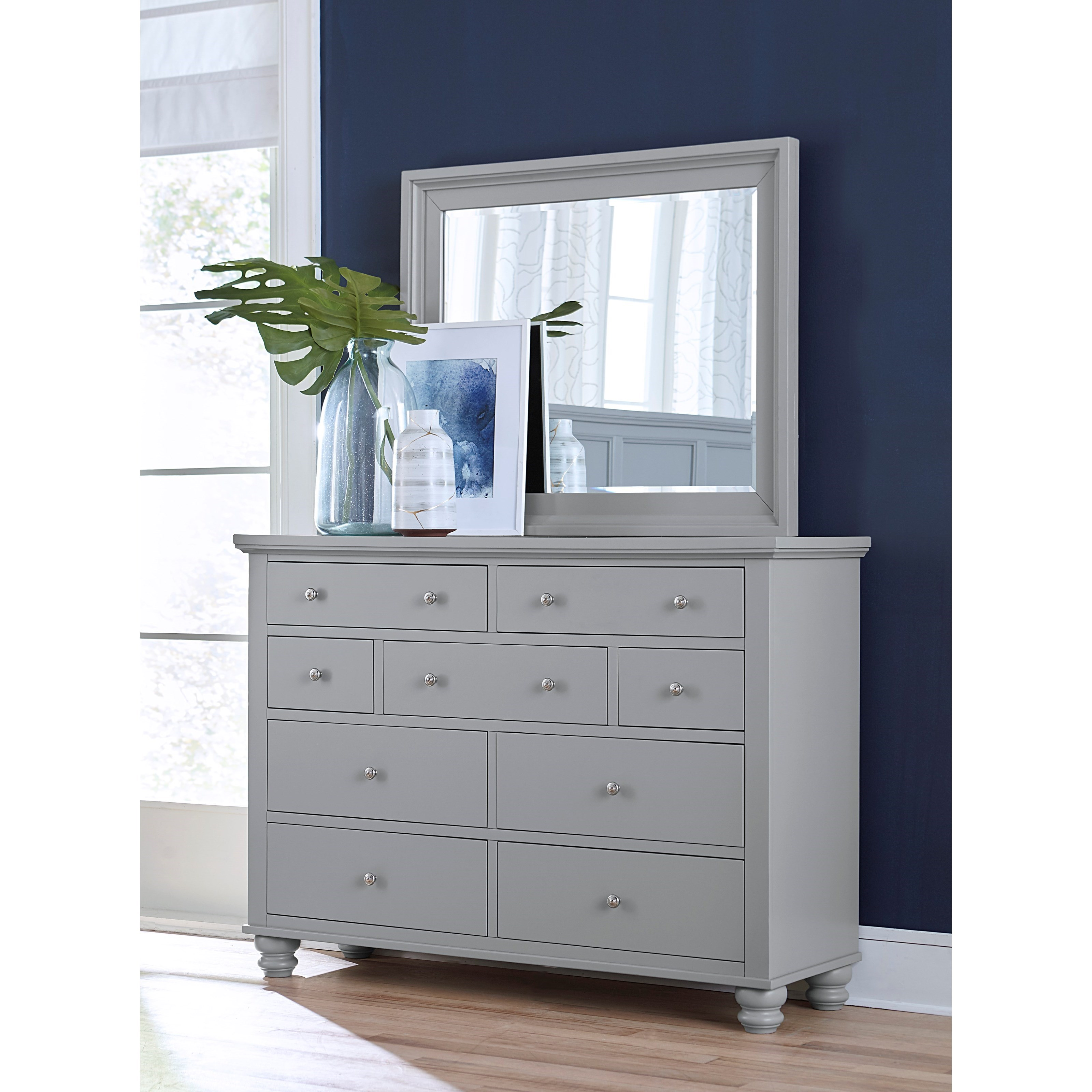 Cambridge Chesser & Mirror Combo by Aspenhome at Walker's Furniture