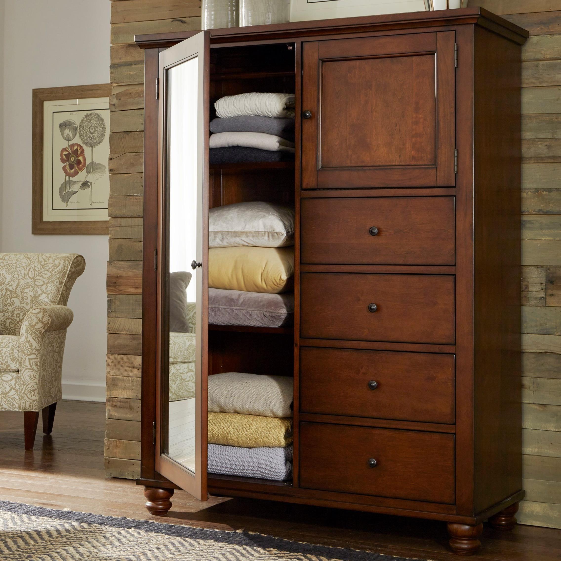Cambridge 4 drawer 2 Door Chiffarobe  by Aspenhome at Stoney Creek Furniture