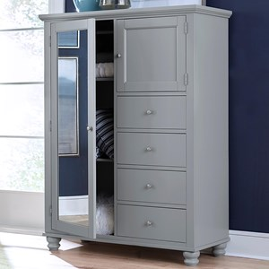 4 Drawer 2 Door Chiffarobe