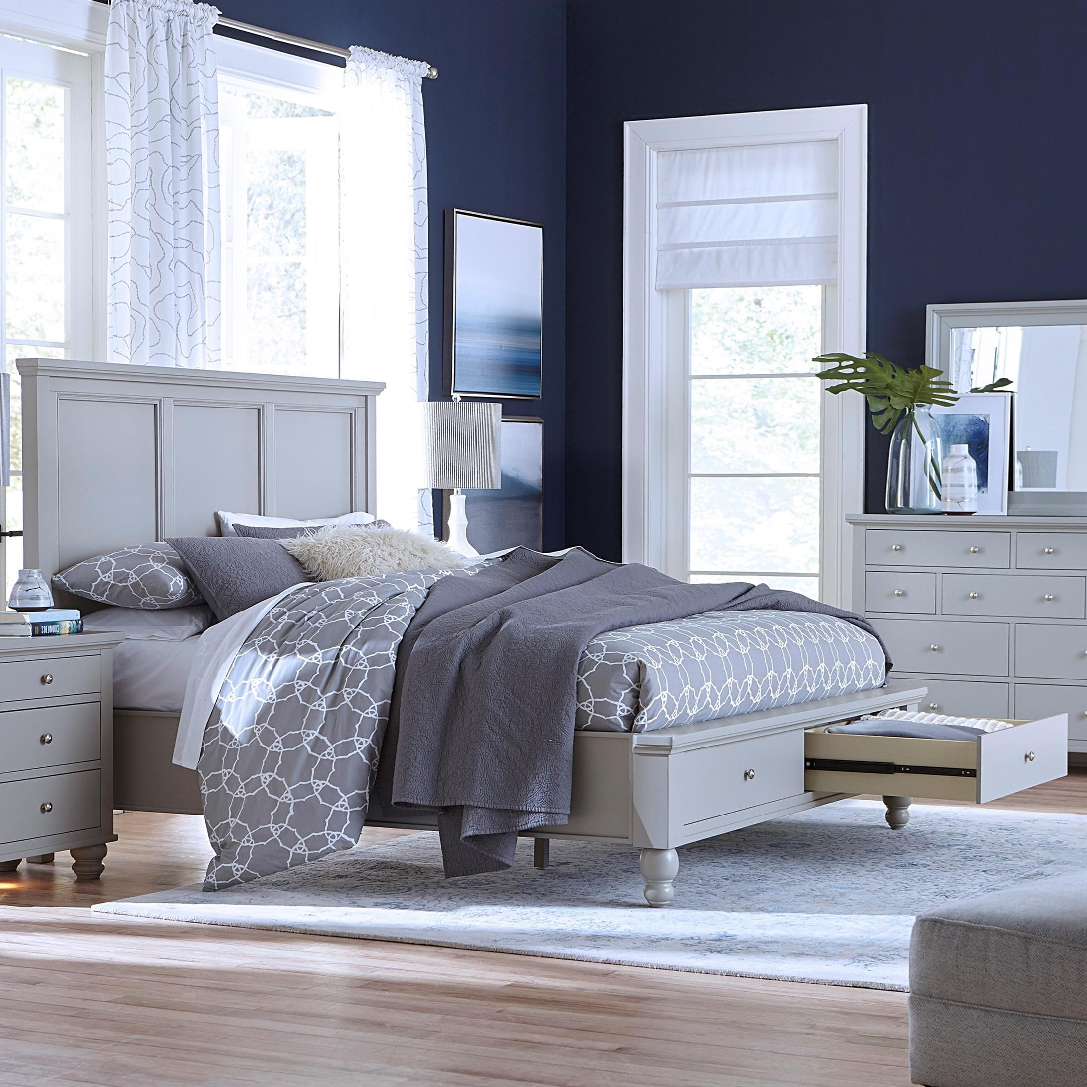 Cambridge Cal. King Panel Bed by Aspenhome at Godby Home Furnishings