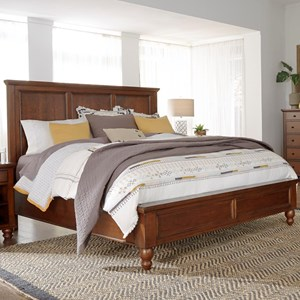 California King Panel Bed with USB Ports