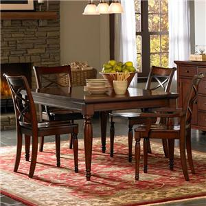 5 Piece Rectangular Leg Dining Table & Chair Set