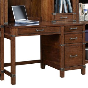 "50"" Single Pedestal Desk with Cable Management"