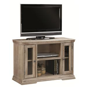 41-Inch TV Console with 2 Doors and Open Component Storage Area