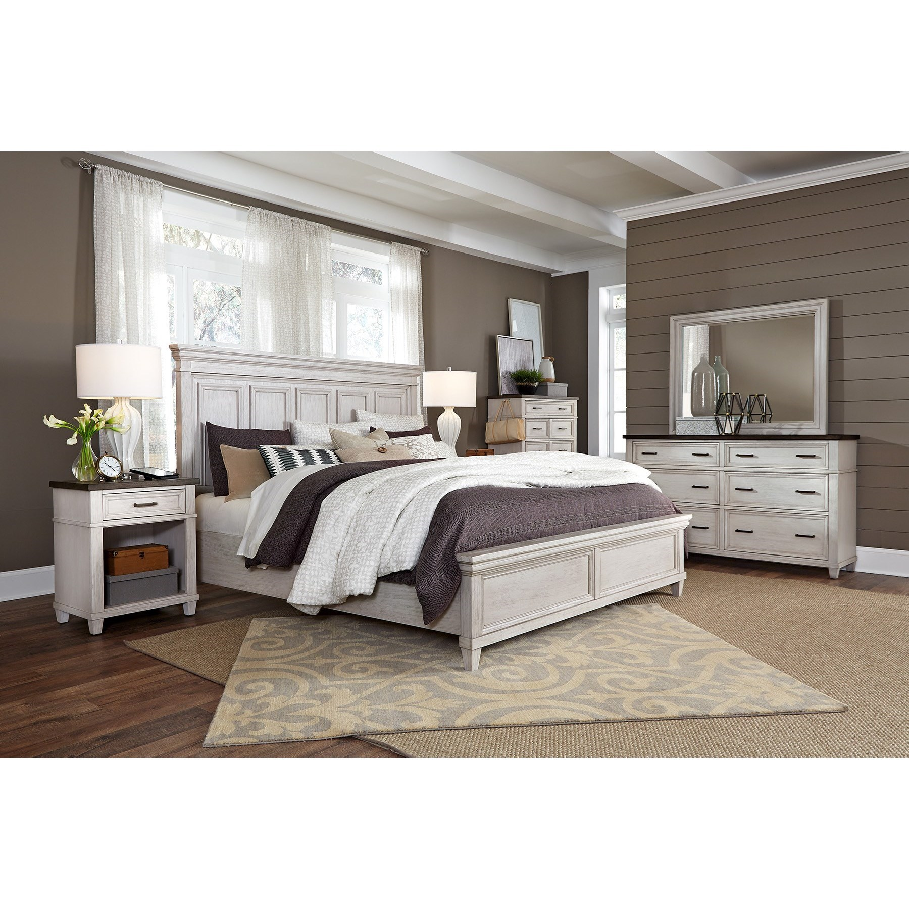 Caraway King Bedroom Group by Aspenhome at Prime Brothers Furniture