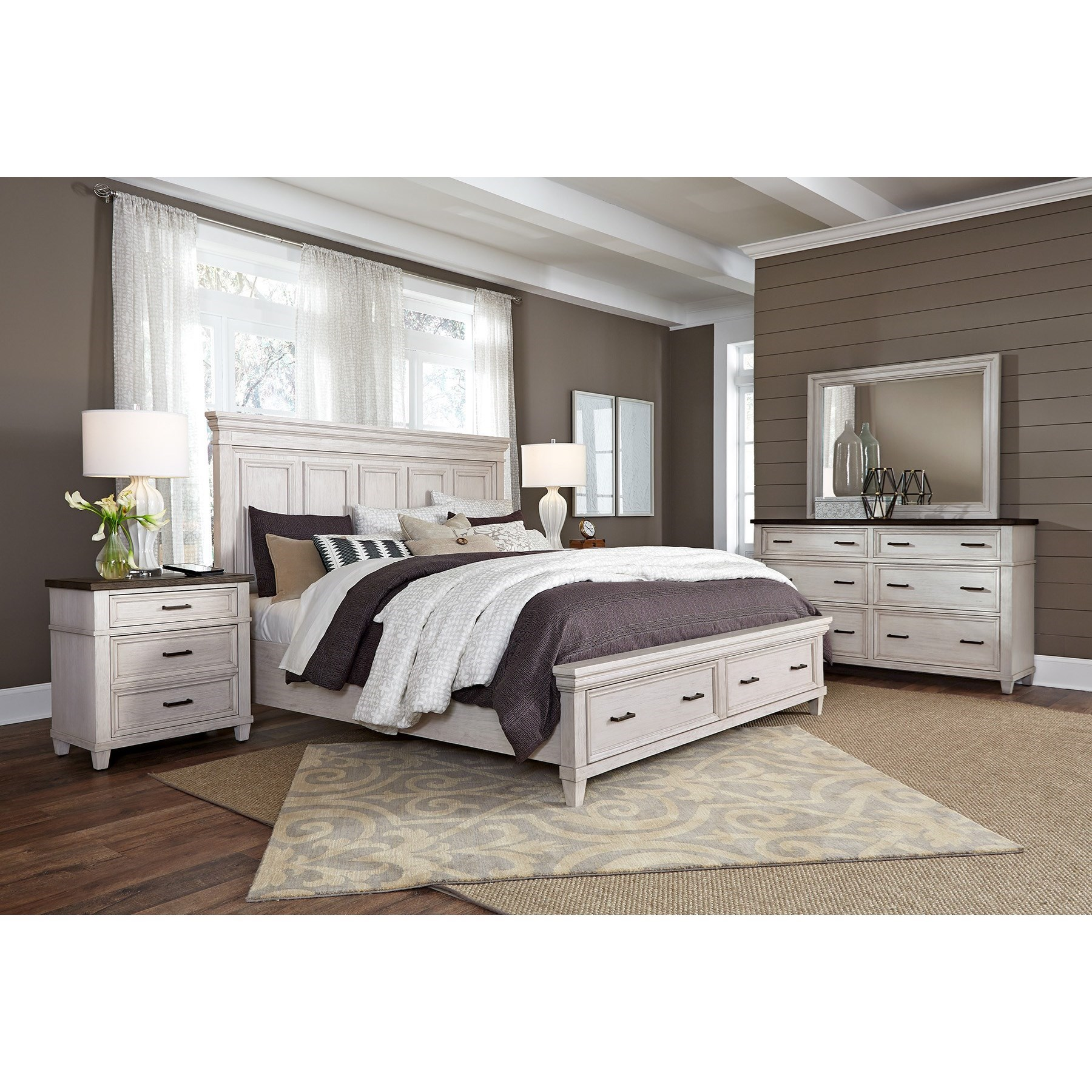 Caraway Cal King Bedroom Group by Aspenhome at Walker's Furniture