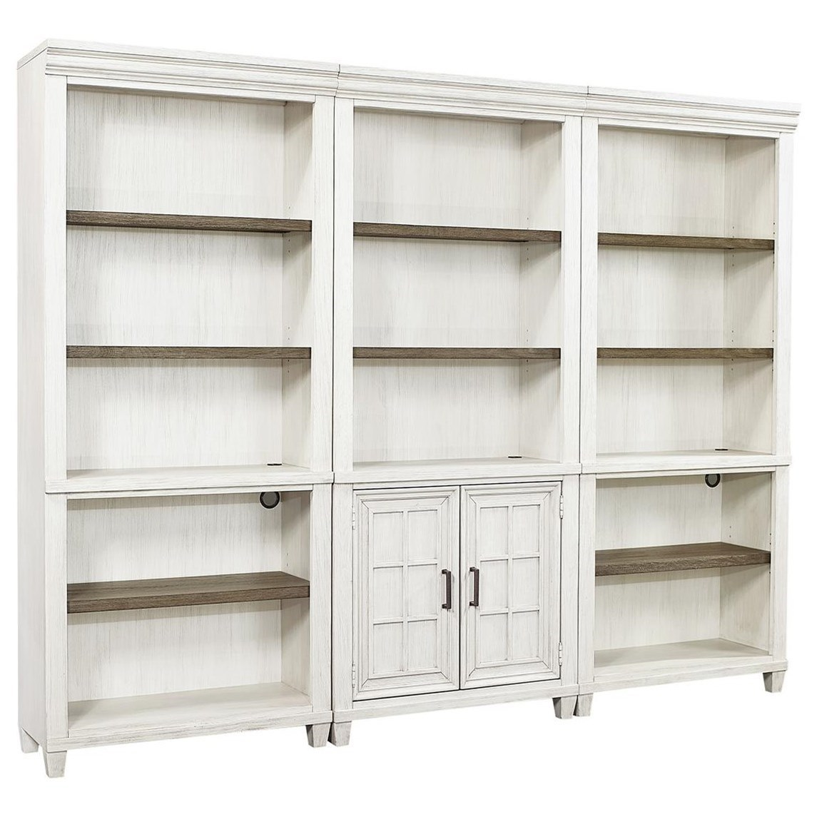 Caraway Bookcase Combination by Aspenhome at Baer's Furniture