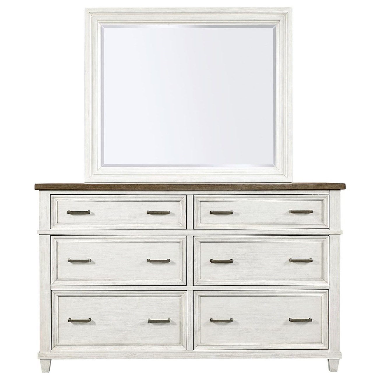 Caraway Dresser and Mirror Combination by Aspenhome at Baer's Furniture