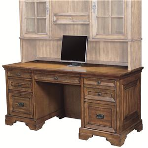 "66"" Kneehole Credenza with CPU/Printer Storage, 1 Locking File Drawer and ""StoreCharge"" Drawer"